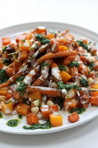 roasted-root-vegetables-with-tahini-chimichurri-sauce