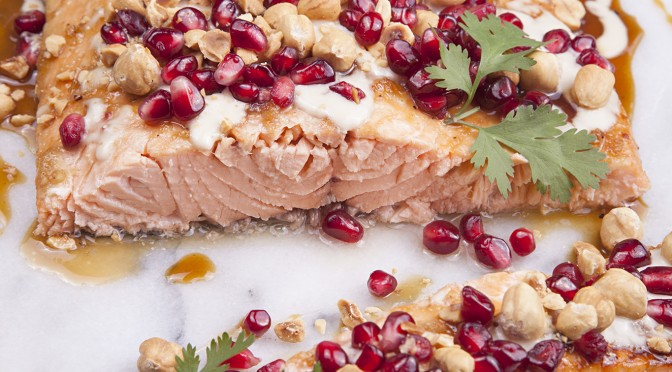 pomegranate-salmon